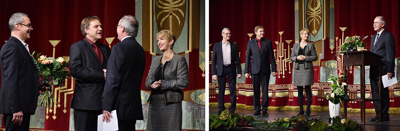 Dr. Martin Roeder, Martin Schüler, Prof. Dr. Claus Lambrecht, Dr. Martina Münch (v.l..n.r.)