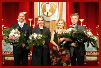 Dr. Michael Brusch, Judith Herrmann (Ernst-Frank-Förderpreis), Cornelia Zink, Hauke Tesch