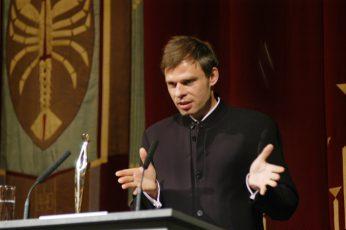 Staatstheater CottbusFestakt zur Verleihung des Max-Grünebaum-Preises  2007 Dr. Wolfram Miller vom IKZ (nahm den Max Grünebaum-Preis stellvertretend entgegen)