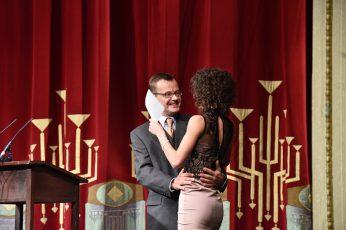 Dirk Neumann Leiter Ballettensemble Staatstheater Cottbus und Tänzerin Greta Dato (Preisträgerin 2016).