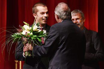 Philipp Richter (Förderpreisträger), Prof. Dr. Claus Lambrecht und Prof. Dr.-Ing. Matthias Koziol Vizepräsident für Lehre und Studium BTU Cottbus-Senftenberg (v.l.n.r.)